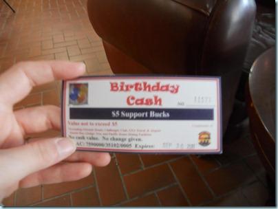 Birthday cash