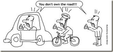 cars and cyclists